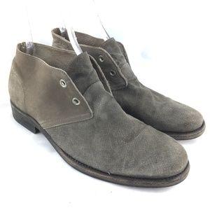 Desert boot gray suede textured 2 eye chukka 43 10